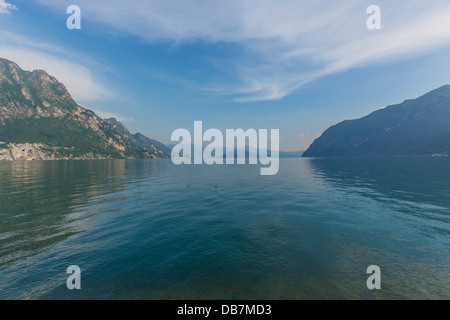 Lake Iseo or Lago d'Iseo with Monte Isola - Stock Photo