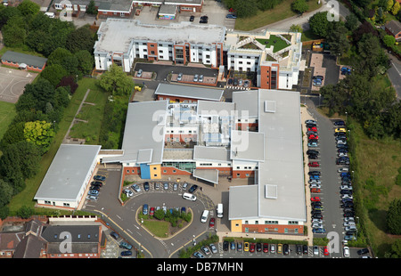 aerial view of Samuel Johnson Community Hospital in Lichfield, Staffordshire - Stock Photo