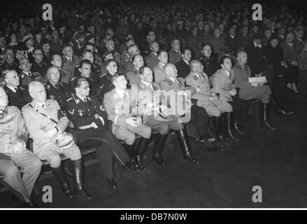 Nazism / National Socialism, event, opening of the exhibition 'Der ewige Jude' 'The eternal Jew', library of Deutsches - Stock Photo