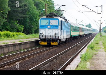 passenger train in Poland - Stock Photo