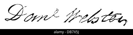 Webster, Daniel, 18.1.1782 - 24.10.1852, American politician, signature, Additional-Rights-Clearances-NA - Stock Photo