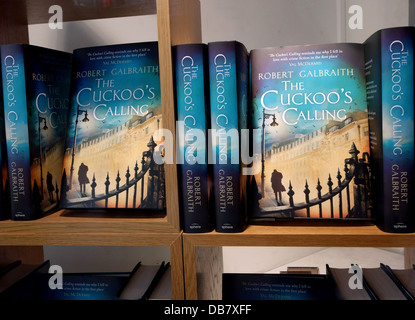 J K Rowling revealed as author of The Cuckoo's Calling by Robert Galbraith, London - Stock Photo