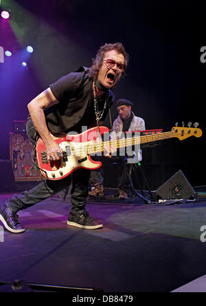 Former Deep Purple bass player Glenn Hughes, now of Black Country Communion, performs on stage at Pacific Road Arts - Stock Photo