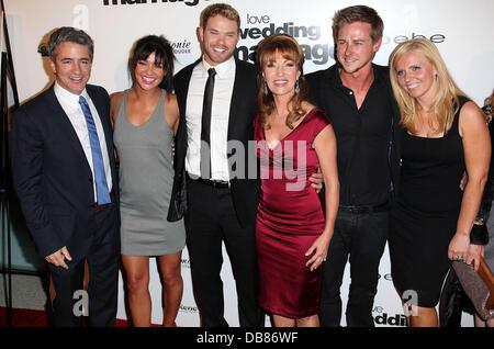 Dermot Mulroney, Jessica Szohr, Kellan Lutz, Jane Seymour, Richard Reid and Guest Los Angeles Premiere of 'Love, - Stock Photo