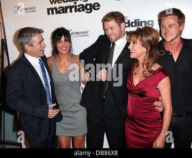 Dermot Mulroney, Jessica Szohr, Kellan Lutz, Jane Seymour and Richard Reid Los Angeles Premiere of 'Love, Wedding, - Stock Photo