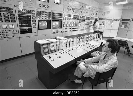 energy, nuclear power, nerve centre of the research reactor of the type WWR-S, in the nuclear research centre, powered - Stock Photo