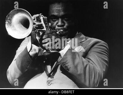 Hubbard, Freddie, 7.4.1938 - 29.12.2008, American musician (jazz), trumpeter, half length, during stage performance, - Stock Photo