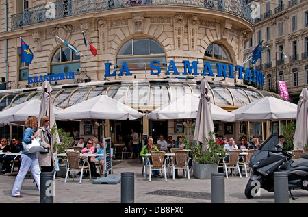 quai du port restaurant cafe bar pub marseilles vieux port stock photo royalty free