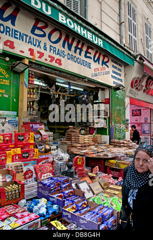 Marseilles French Noailles the city's Arab quarter food market north of Vieux Port France French - Stock Photo