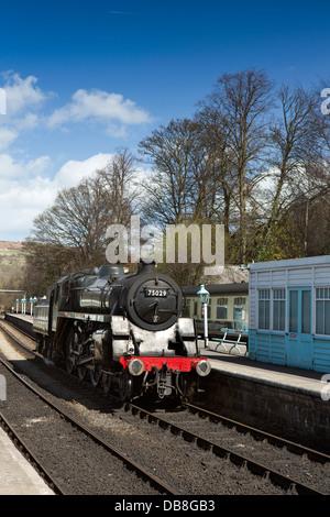 UK, England, Yorkshire, Grosmont, North Yorkshire Moors Railway, steam loco - Stock Photo