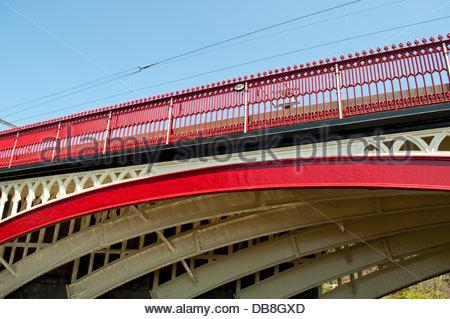 Railway bridge, Castlefield, Manchester, UK - Stock Photo