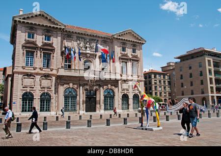 Hotel de Ville ( Quai Vieux Port ) Marseilles Marseille France French - Stock Photo