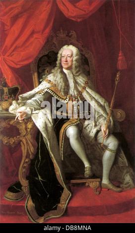 King George II of Great Britain - Stock Photo