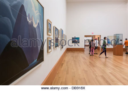 Paintings by Group of Seven member Lawren Harris on display in renovated Art Gallery of Ontario in Toronto Ontario - Stock Photo