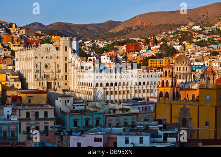 The UNIVERSITY OF GUANAJUATO started in 1732 as the Hospice of the Holy Trinity - GUANAJUATO, MEXICO - Stock Photo
