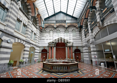 The spa, Mont-Dore thermal city, Puy de Dome, Auvergne, France. The Hall des Sources - Stock Photo