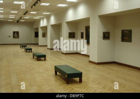 Albania. Tirana. Nacional Art Gallery. Inside. - Stock Photo