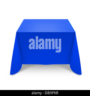 Blue tablecloth. Illustration on white background for design - Stock Photo