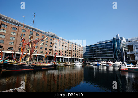 St Katharine Docks London England UK - Stock Photo