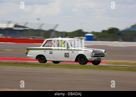 Silverstone, Northants, UK. 26th July, 2013. Silverstone Classic 2013 - Friday Qualifying for Trans-Atlantic Touring - Stock Photo