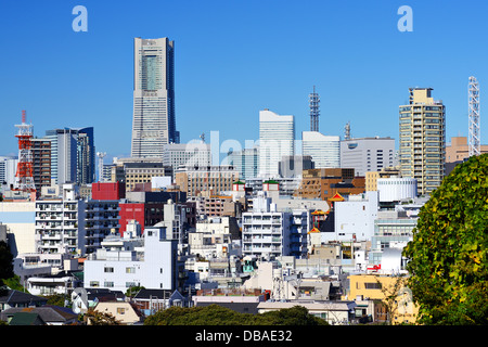Cityscape of Yokohama, Japan, the second largest city in the country. - Stock Photo