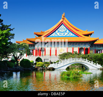 National Theater of Taiwan in Freedom Square, Taipei, Taiwan. - Stock Photo