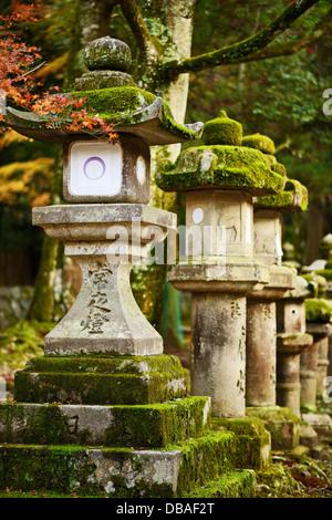 nara, japan lanterns - Stock Photo