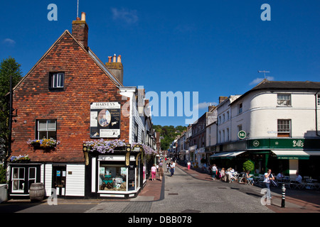 The High Street, Lewes, East Sussex, England - Stock Photo