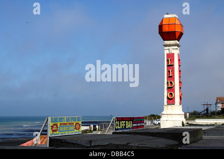 Lido tower at Margate Kent - Stock Photo