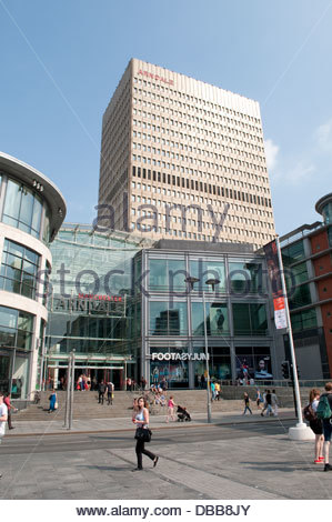 Exchange Square with Arndale Shopping Centre, Manchester, UK - Stock Photo