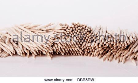 Toothpicks on a white background - Stock Photo