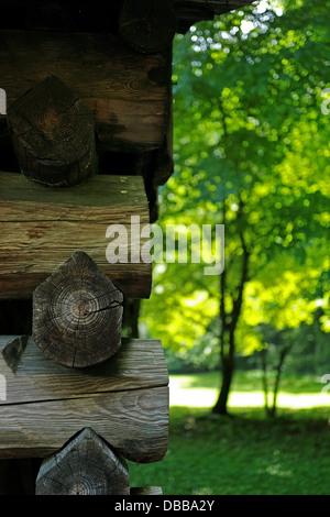 Cades Cove log cabin - Stock Photo