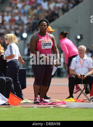 London, UK. 27th July 2013. at the London Anniversary Games Diamond League Athletics meeting, July 27th 2013 Credit: - Stock Photo