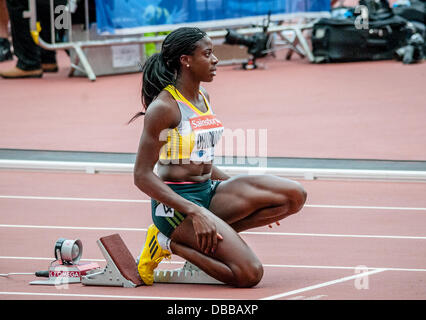 Christine Ohuruogu with the women's 400m at the Sainsbury's Anniversary Games at  Olympic Stadium, London on July - Stock Photo