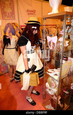 London, UK. 27th July 2013. Fans of Cosplaying and Cosplayers at Hyper Japan 2013 in London where the European Cosplay - Stock Photo