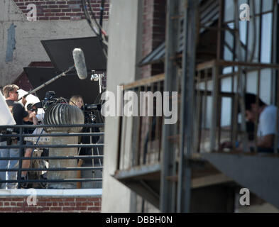June 19, 2013 - Los Angeles, California, USA - The cast and crew of the new Veronica Mars movie with KRISTEN BELL - Stock Photo
