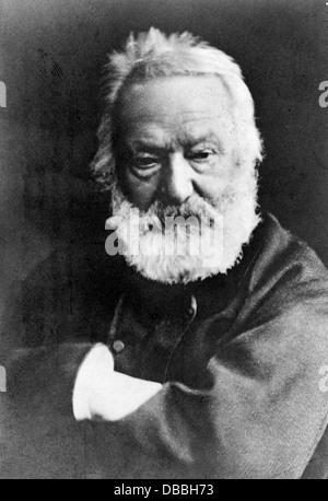 Victor Hugo, French poet, author, novelist, and dramatist - Stock Photo