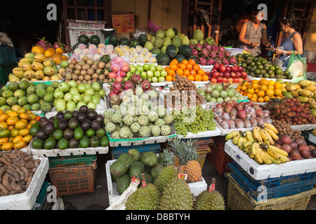 Fresh produce for sale at market in Hoi An, Vietnam, Quang Nam, Southeast Asia - Stock Photo