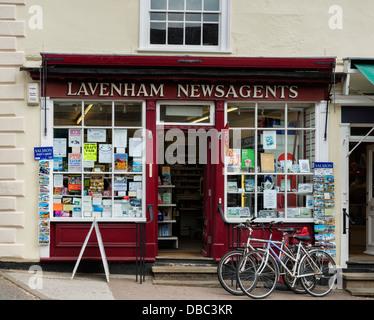 Lavenham Newsagent's Shop - Stock Photo