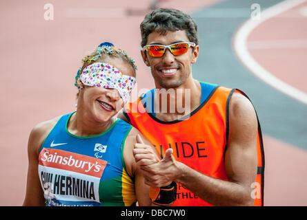 Terezinha Guulhermina during the Sainsbury's International Para Challenge at the Olympic Stadium, London on July - Stock Photo