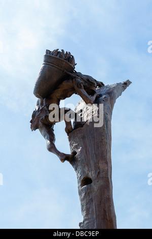 Sculpture outside the Visitor Center at Mesa Verde National Park, Cortez, Colorado, USA - Stock Photo