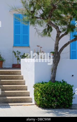 Detail of fishermen's house in old fishermans village of Son Baulo, northern Majorca, - Stock Photo