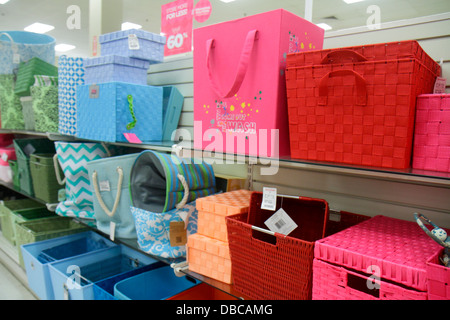 Miami Florida Aventura Marshalls Home Goods discount department store  retail display sale baskets storage   Stock. Miami Florida Aventura Marshalls Home Goods discount department