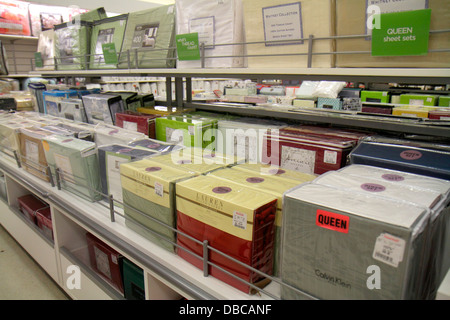 Miami Florida Aventura Marshalls Home Goods discount department store  retail display sale sheets bedding   Stock. Miami Florida Aventura Marshalls Home Goods discount department