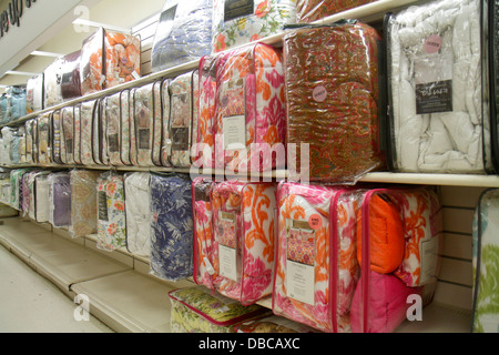 Miami Florida Aventura Marshalls Home Goods discount department store  retail display sale bedding   Stock Photo. Miami Florida Aventura Marshalls Home Goods discount department