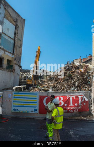 Marseille, France, Construction Site, Crew Demotion in Center City, (Near Train Station) - Stock Photo