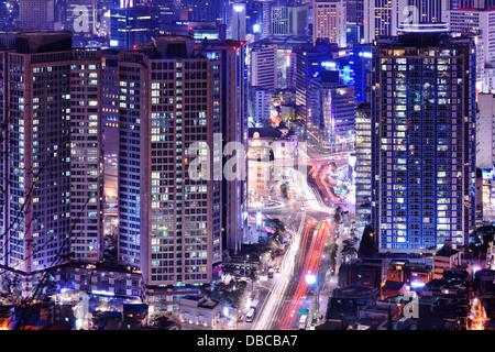 Cityscape of Seoul, South Korea. - Stock Photo