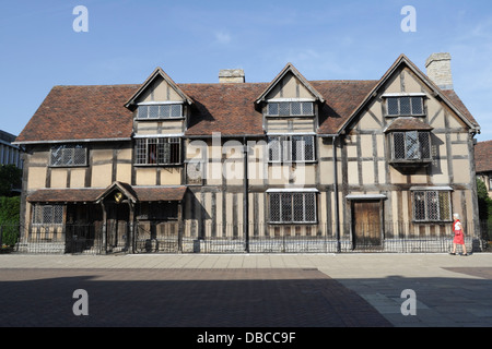 William Shakespeare's birthplace in Henley Street Stratford upon Avon - Stock Photo