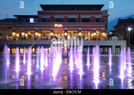 Brewery Square. A derelict old industrial site in Dorchester is being transformed into a glossy new town centre - Stock Photo
