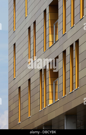 Chasse Park Housing, Breda, Netherlands. Architect: OMA, 2001. Detail of window openings in facade of apartment - Stock Photo